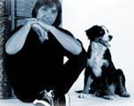 Lerch István kutyajával
